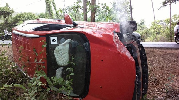 Ford Ecosport Safety Features Work Perfectly In Inadvertent Topple