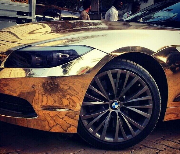 Chrome wrap for your car, absolute bling now in India