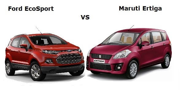 Ford EcoSport vs Maruti Ertiga: Win some, lose some
