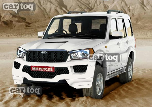 CarToq's speculative render of the 2014 Mahindra Scorpio Facelift pic