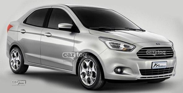 2015 ford figo based  pact sedan car  ing to india
