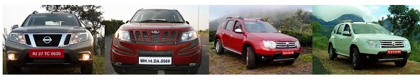 The price war: XUV500 W4 vs comparable Terrano and Duster models