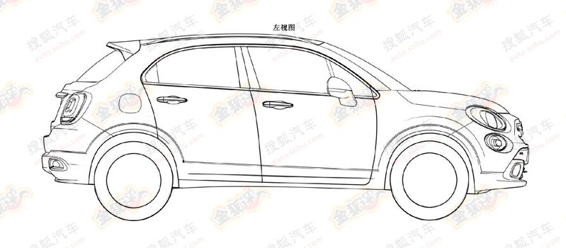 Ford EcoSport rivaling Fiat 500X Crossover's patent drawings leaked