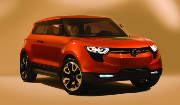 Ssangyong X100 Compact Crossover Concept Front Image