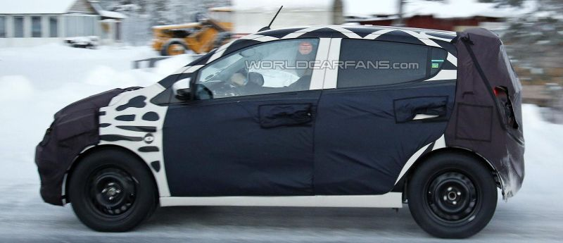 Next-generation 2015 Chevrolet Beat spotted cold weather testing
