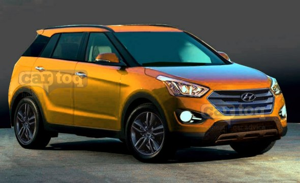 2015 hyundai compact suv bound for the indian car market rendered. Black Bedroom Furniture Sets. Home Design Ideas
