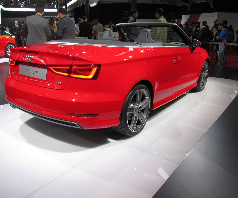 Audi A3 Sedan And Cabriolet Make Their Indian Auto Expo