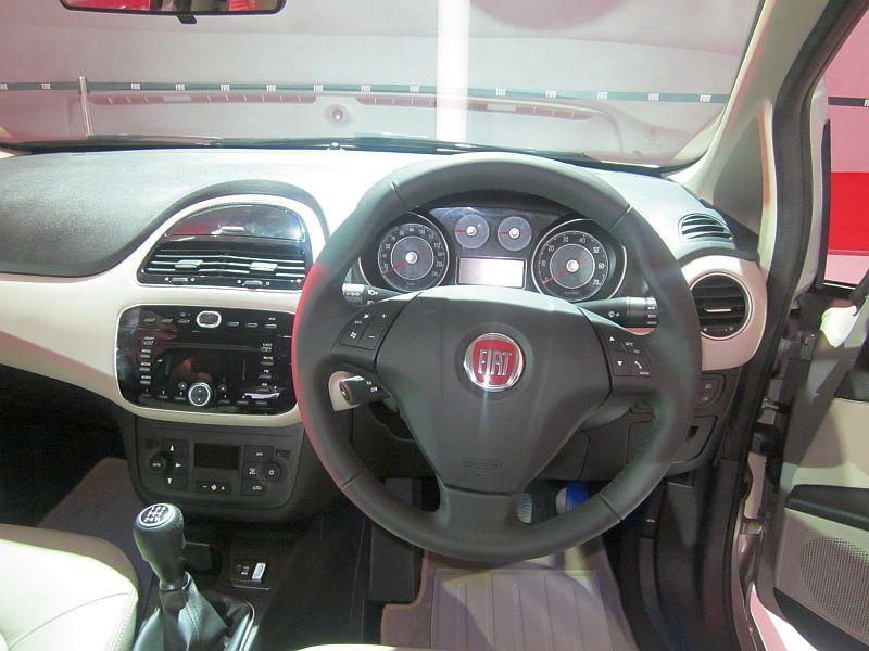 2014 Auto Expo Fiat India Unveils Linea Sedan Facelift