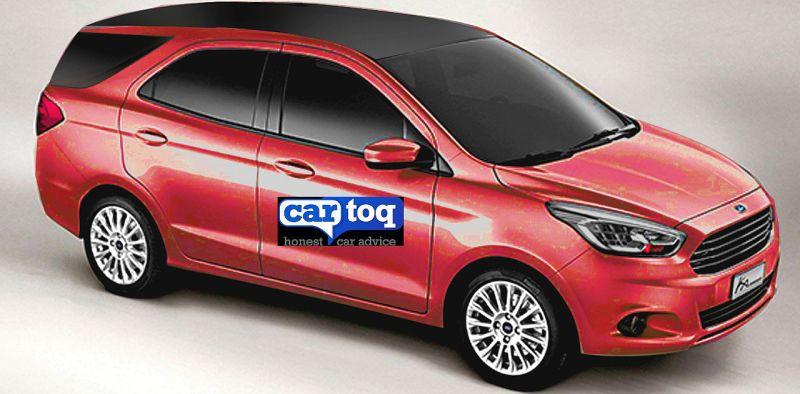 2015 Ford Figo-based compact MPV in CarToq's render