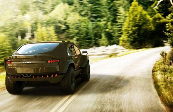 Mahindra Komodo SUV Concept Rear Pic