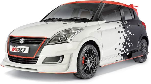 Maruti Suzuki Swift with Volt Custom Kit Pic