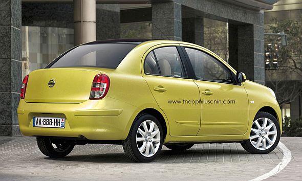 Nissan Micra Sedan Render Image