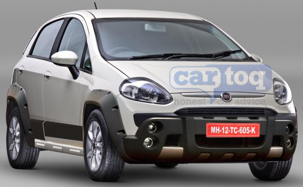 CarToq's speculative rendering of the 2014 Fiat Punto Cross crossover styled hatchback pic