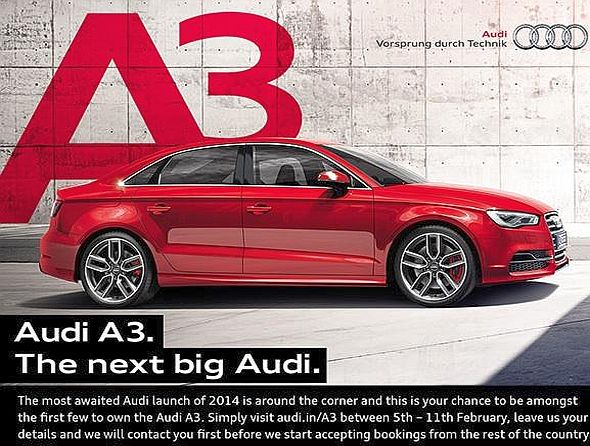 Audi A3 Sedan Email Flyer Picture