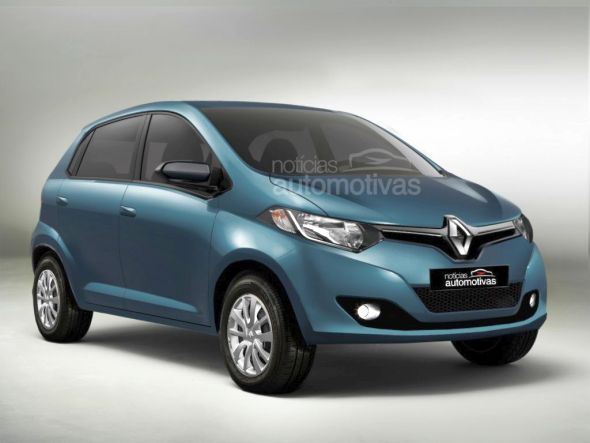 Speculative render of the Renault A-Entry (XBA) budget hatchback pic
