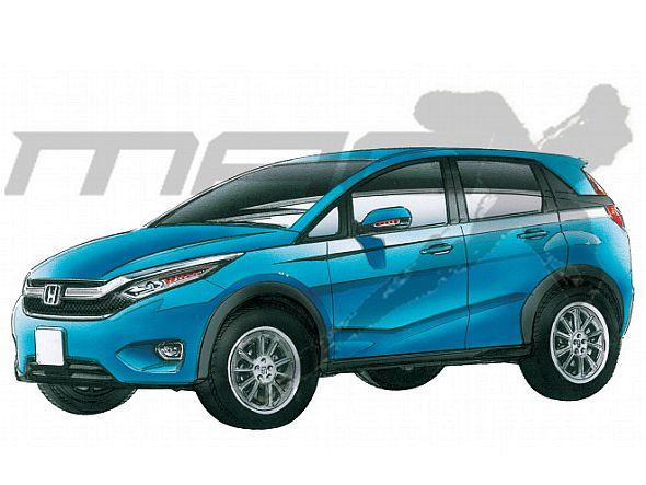 Honda Brio-based compact SUV Render