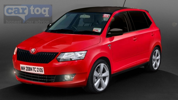 CarToq's speculative render of the 2015 Skoda Fabia Hatchback Picture