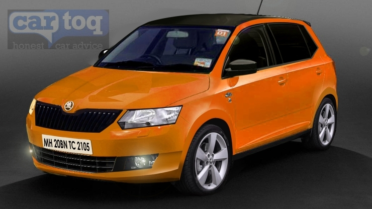 CarToq's speculative render of the 2015 Skoda Fabia Hatchback in Orange Picture