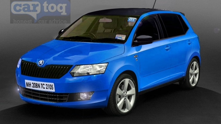 CarToq's speculative render of the 2015 Skoda Fabia Hatchback in Blue Photo