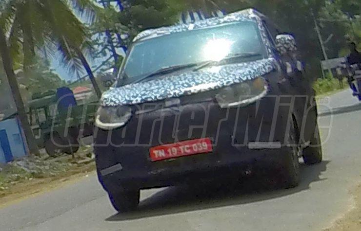 Mahindra S101 Compact SUV Spyshot Image