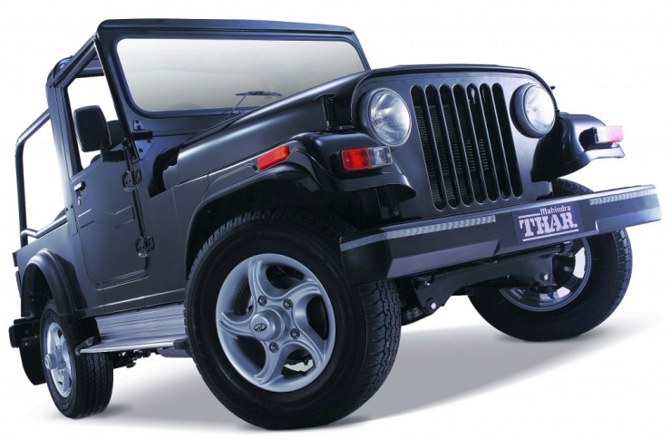 Mahindra Thar with steel bumpers