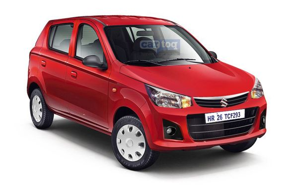 Uncamoulaged Maruti Alto 800 facelift spotted