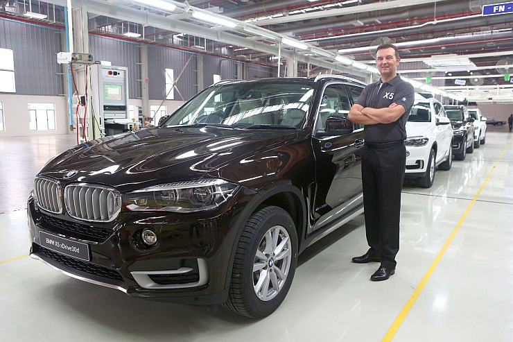 CKD assembled 2014 BMW X5 30d SUV rolling out of BMW India's Chennai Factory Pic
