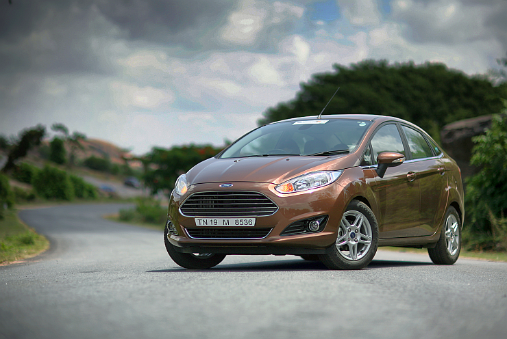 2014 Ford Fiesta Sedan Facelift in Golden Brown Colour Pic