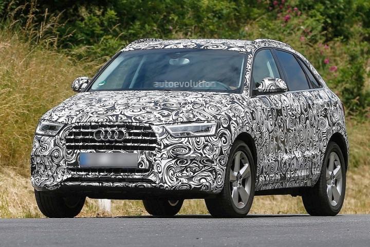 2015 Audi Q3 Crossover Facelift Spyshot Image