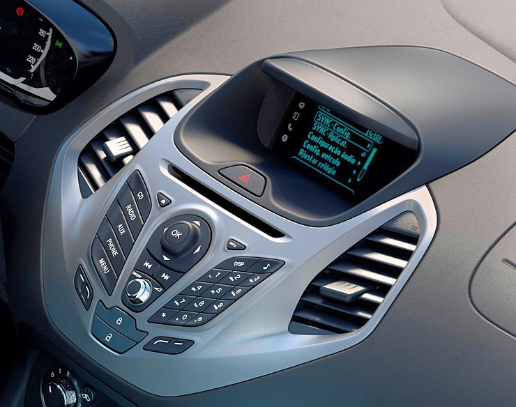 Center Console of the 2015 Ford Figo/Ka hatchback and compact sedan pic