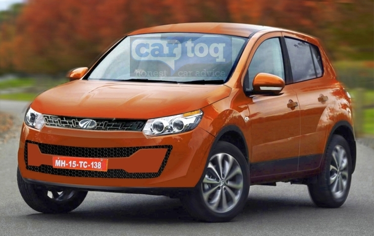 CarToq's Speculative Render of the Mahindra S101 Compact SUV Photo