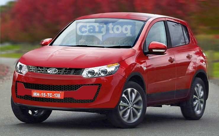 CarToq's Speculative Render of the 2015 Mahindra S101 Micro SUV Pic