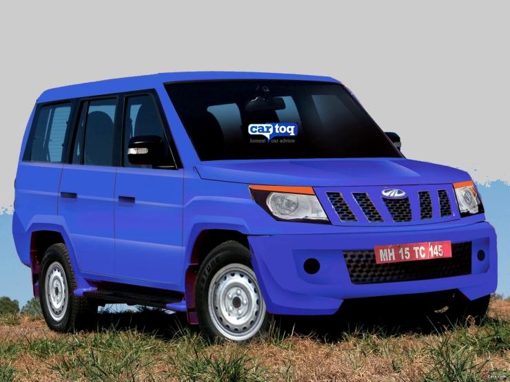 Speculated Render of U301 Mahindra Bolero MUV Pic