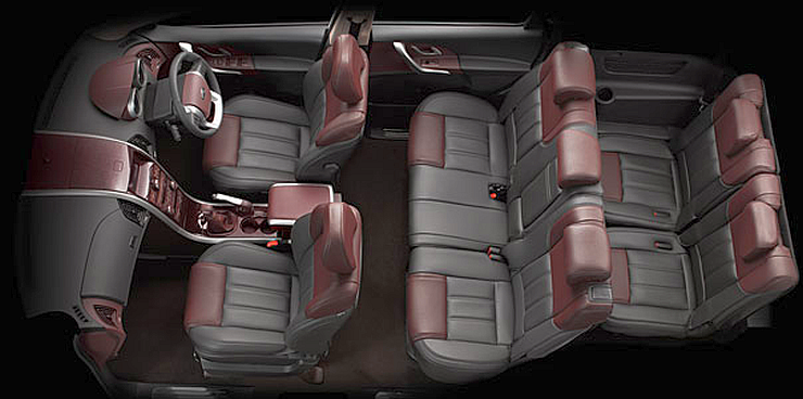 Mahindra XUV500 Crossover Interiors Picture