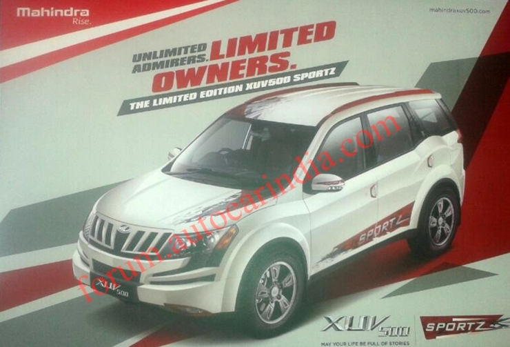 Mahindra XUV500 crossover gets Sportz accessory pack