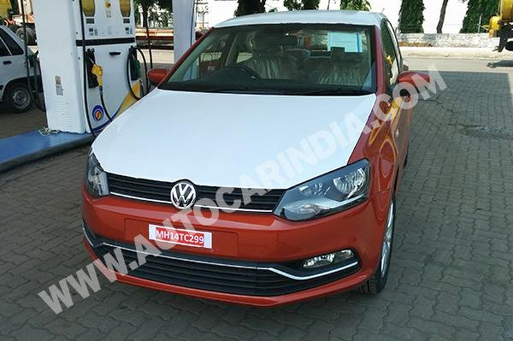 Volkswagen Polo Facelift caught without disguise