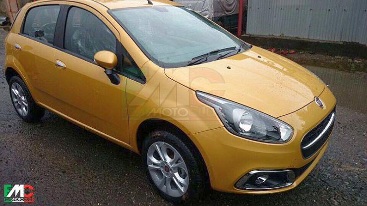 2014 Fiat Grande Punto Facelift Unmasked