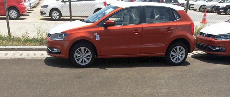 2014 Volkswagen Polo Facelift Hatchback Spyshot Pic