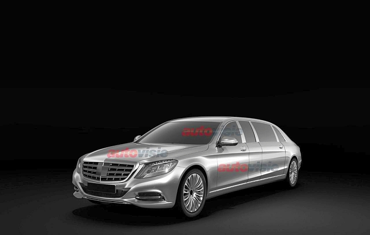 2015 W222 Mercedes Benz S-Class Pullman Limousine Patent Images Leaked