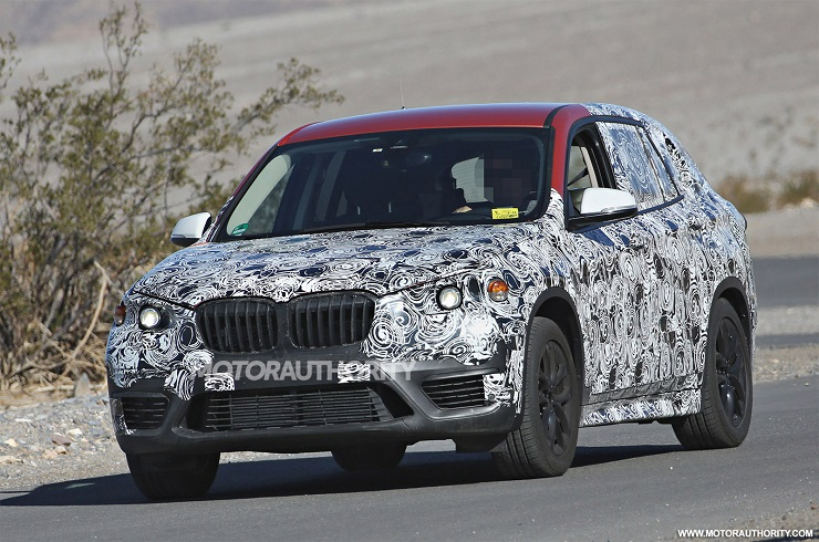 2016 BMW X1 Crossover Test Mule Spyshot Pic