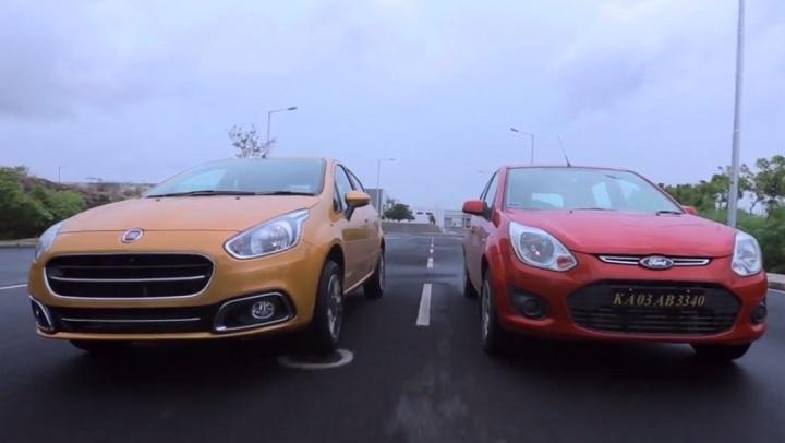 Fiat Punto Evo vs Ford Figo video comparison