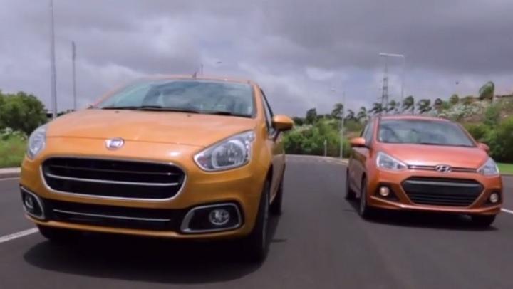 Fiat Punto Evo vs Hyundai Grand i10 video comparison