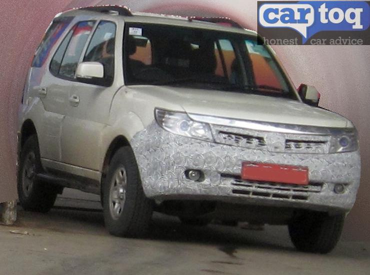 2014 Tata Safari Storme Refresh SUV Spyshot Pic
