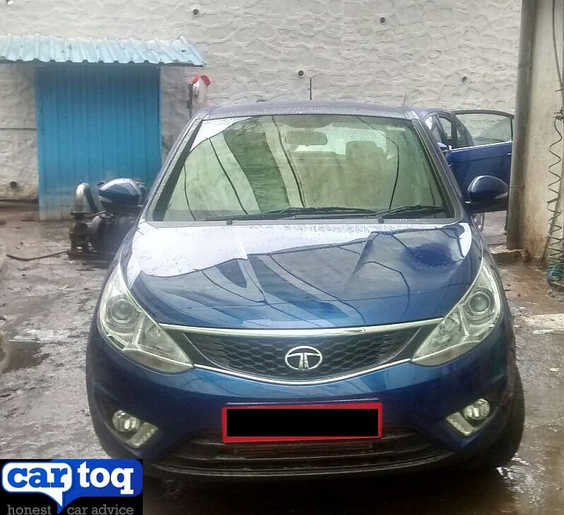 Zest Compact Sedan spotted at a Tata Motors Dealership pic