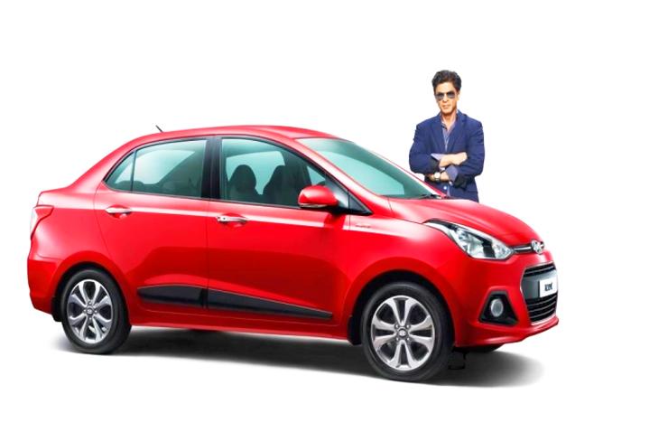 Hyundai Xcent and Shahrukh Khan
