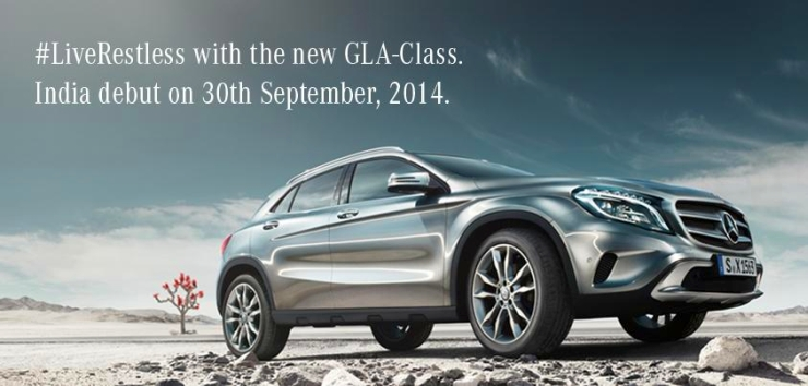 Official – Mercedes Benz GLA Crossover's India launch confirmed for 30th September