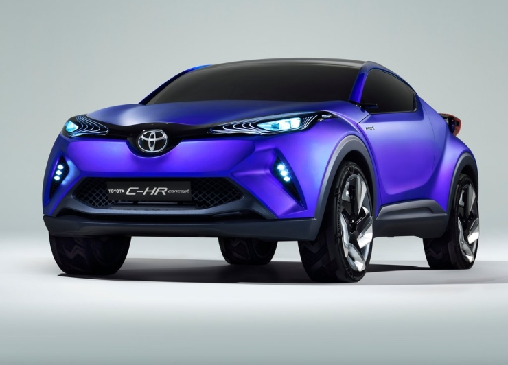 Toyota C-HR Crossover Concept Unmasked