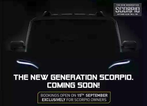 Mahindra Scorpio Facelift Teaser Pic