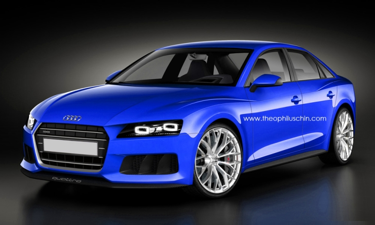2015 Audi A4 Sedan Speculative Render Image