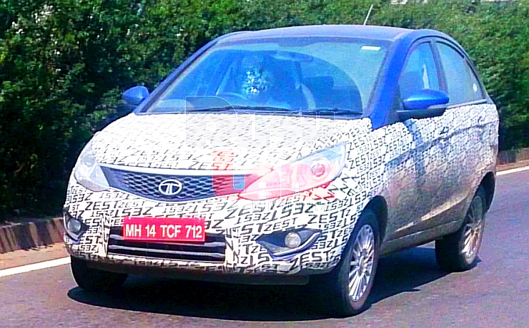 Spyshot of the Tata Zest Petrol AMT Compact Sedan Photo